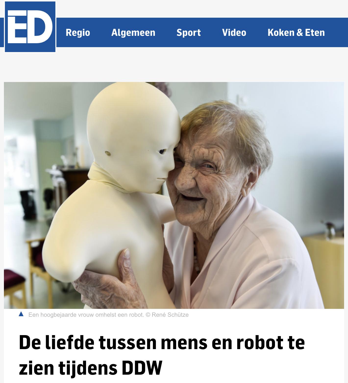 ED artikel Robot Love
