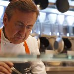 chef boulud at restaurant Spyce
